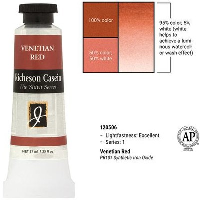 Richeson Casein, Venetian Red (1.25oz)