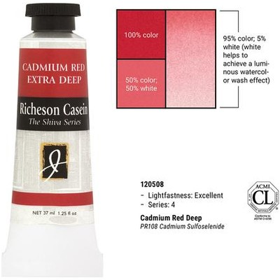 Richeson Casein, Cadmium Red Deep (1.25oz)