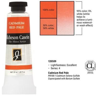 Richeson Casein, Cadmium Red Pale (1.25oz)