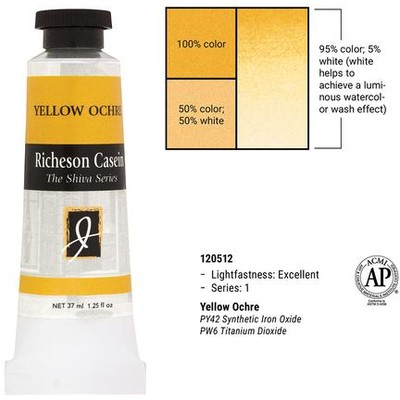 Richeson Casein, Yellow Ochre (1.25oz)