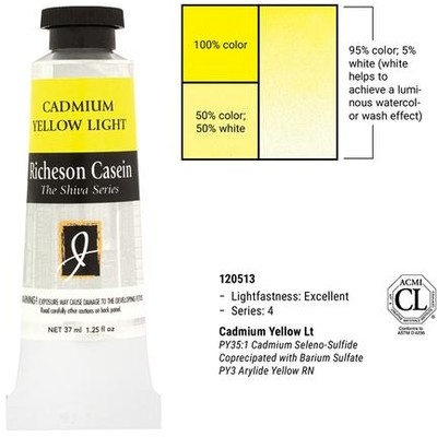 Richeson Casein, Cadmium Yellow Light (1.25oz)