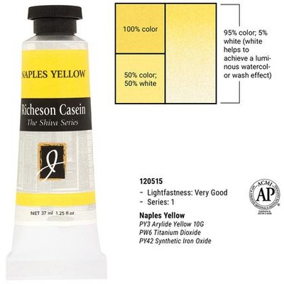 Richeson Casein, Naples Yellow Hue (1.25oz)