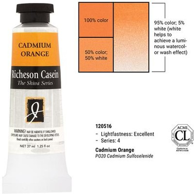 Richeson Casein, Cadmium Orange (1.25oz)