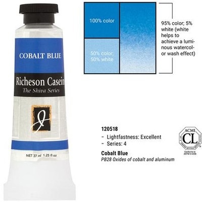 Richeson Casein, Cobalt Blue (1.25oz)