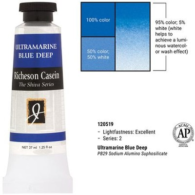 Richeson Casein, Ultramarine Blue Deep (1.25oz)