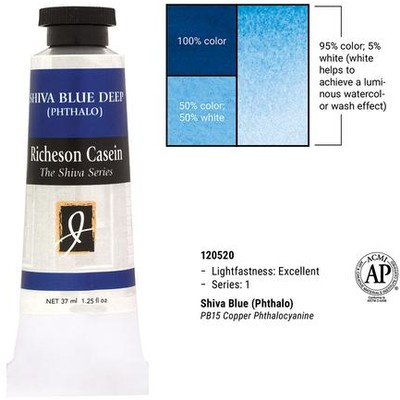 Richeson Casein, Shiva Blue (Phthalo) (1.25oz)
