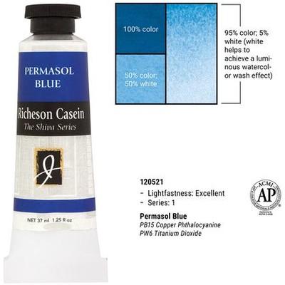 Richeson Casein, Permasol Blue (1.25oz)
