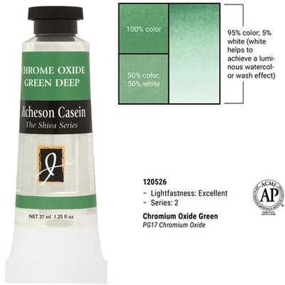 Richeson Casein, Chrome Oxide Green (1.25oz)