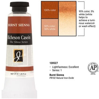 Richeson Casein, Burnt Sienna (1.25oz)