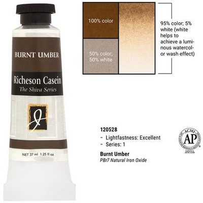 Richeson Casein, Burnt Umber (1.25oz)