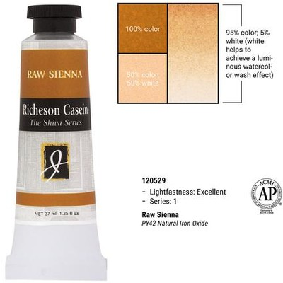 Richeson Casein, Raw Sienna (1.25oz)
