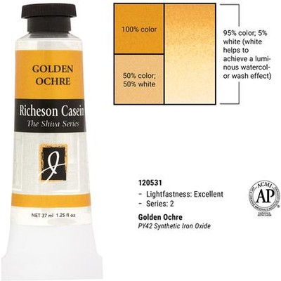 Richeson Casein, Gold Ochre (1.25oz)