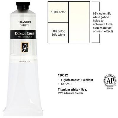 Richeson Casein, Titanium White (5oz)