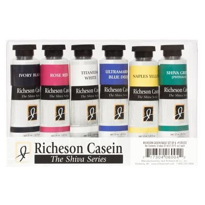Richeson Casein Set, Basic (6 Pack)