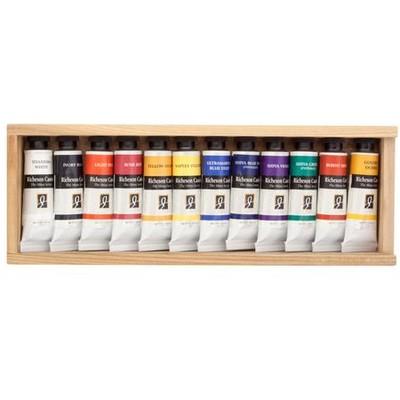 Richeson Casein Set, Wooden Box (12 Pack)