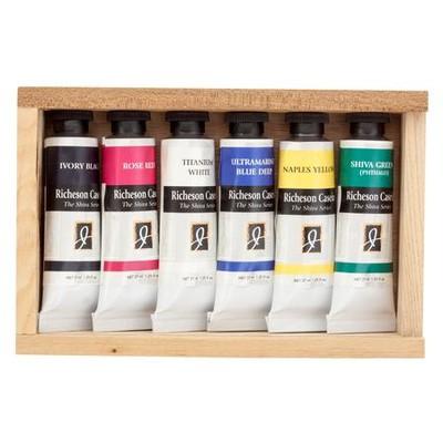 Richeson Casein Set, Wooden Box (6 Pack)