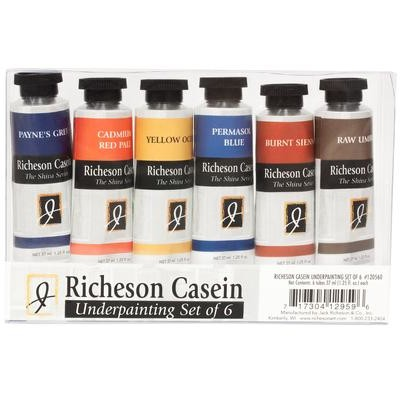 Richeson Casein Set, Underpainting (6 Pack)