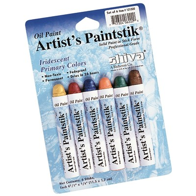 Shiva Paintstik Set, Standard - Iridescent Primary (6pc)