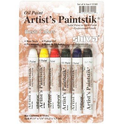 Shiva Paintstik Set, Standard - Basic (6pc)