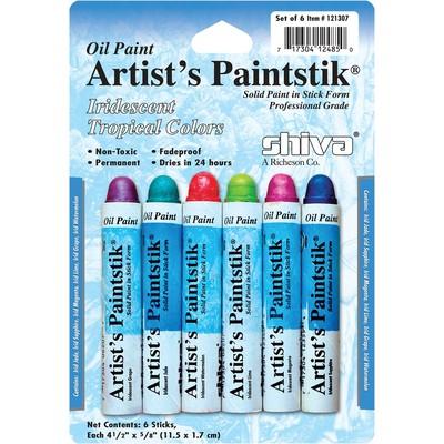 Shiva Paintstik Set, Standard - Iridescent Tropical (6pc)
