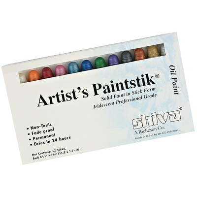 Shiva Paintstik Set, Standard - Iridescent (12pc)
