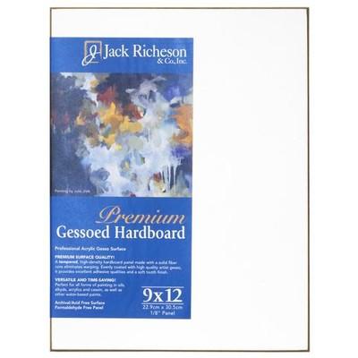 "Gessoed 1/8"" Tempered Hardboard Panel, White - 9"" x 12"""