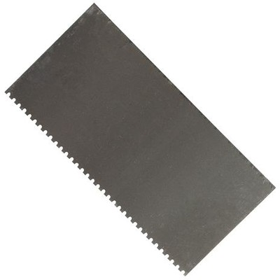 Steel Scraper, Tooth Edge Rectangle