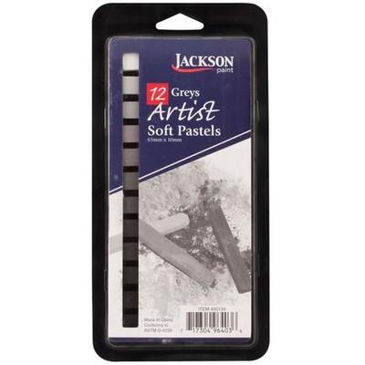 Jackson Pastel Sketch Stick Set, Grey (12pc)