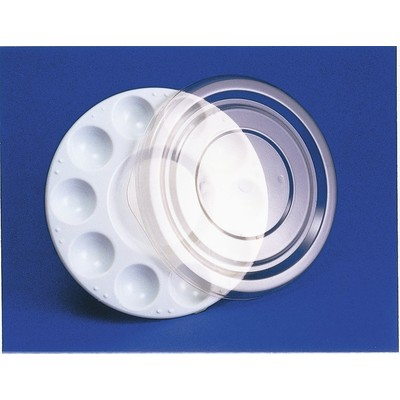 Plastic Palette, Round 10 Well - Heavy Duty w/Cover