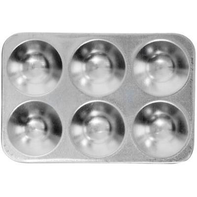 Aluminum Tray, 6 Well Rectangle