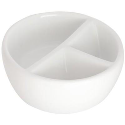 Ceramic Mixing Bowl, 3 Well Round