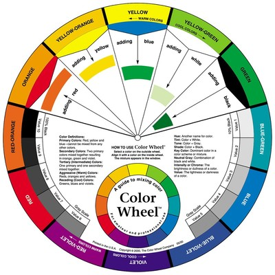 "Artist's Color Wheel, 9-1/4"""