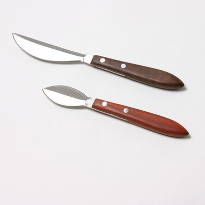 """Stainless Steel Canvas Scraping Knife, Short Bladed - 2-5/8"""""""