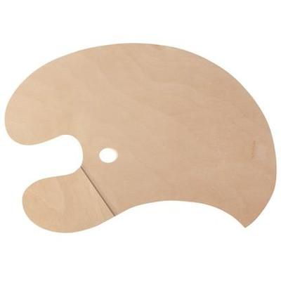 Weighted Palette, Wooden - RH Grip (For LH Painter)