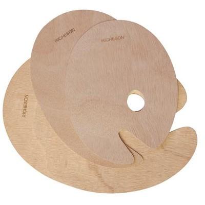 "Wooden Palette, Oval - 9"" x 12"""