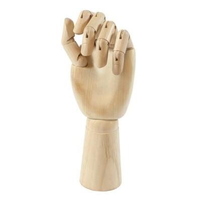 """Wooden Manikin, Left Hand Male - 12"""""""