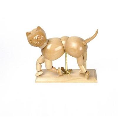 "Wooden Manikin, Cat - 6"""