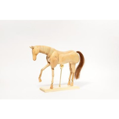 "Wooden Manikin, Horse - 12"""