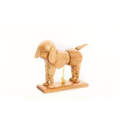 """Wooden Manikin, Dog - 6"""""""