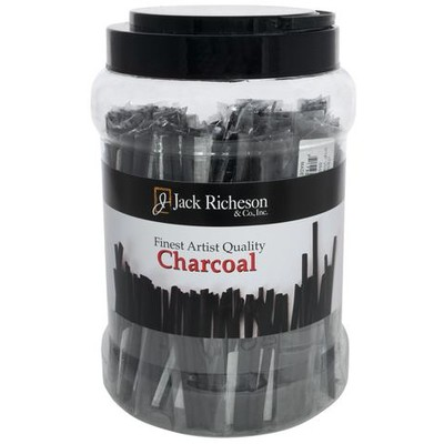Natural Vine Charcoal Canister, Thin Soft (Packs of 3, 48pc)