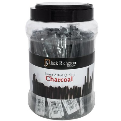 Natural Vine Charcoal Canister, Thin Medium (Packs of 3, 48pc)