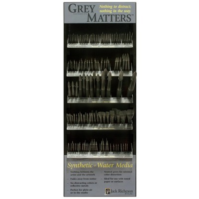 Grey Matters Display, Synthetic for Watercolor Assortment