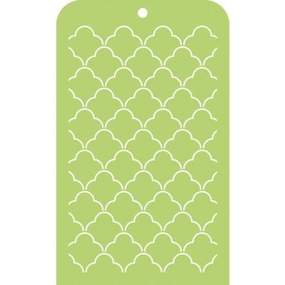 Stencil, Mini Designer Template - Scallop Lattice