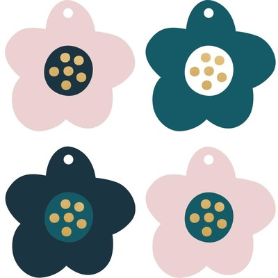 Gift Tags, Rosy - Flowers