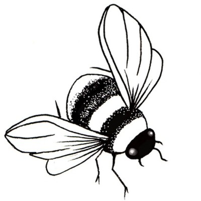 Clear Stamp, Bee Miniature
