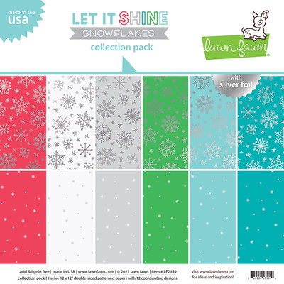 12X12 Collection Pack, Let it Shine Snowflakes