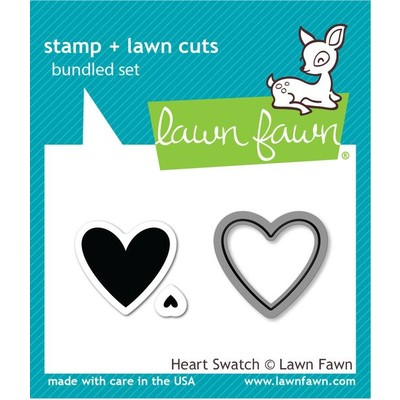 Stamp and Die Combo, Heart Swatch