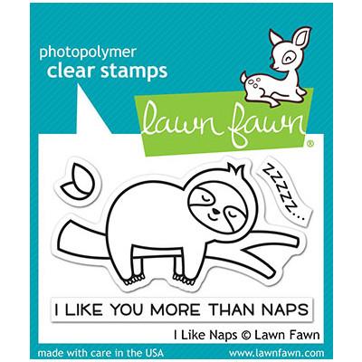 Clear Stamp, I Like Naps