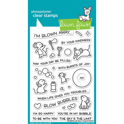 Clear Stamp, Bubbles of Joy