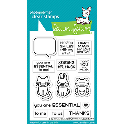 Clear Stamp, Say What? Masked Critters